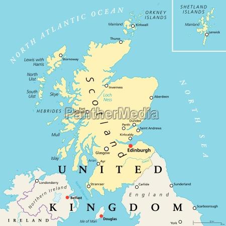 Kort Over Skotland Bexdyie