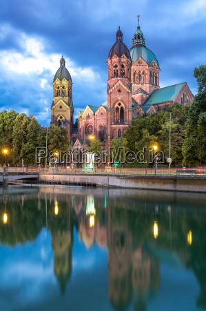 st., lukas, pink, kirke, münchen - 17955368