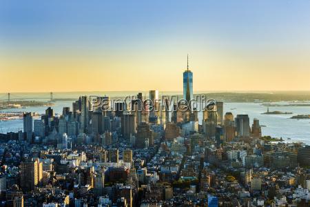 spekuleret skyline udsigt over new york