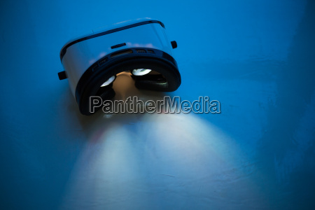 virtual, reality, lyser, om, natten - 18076734