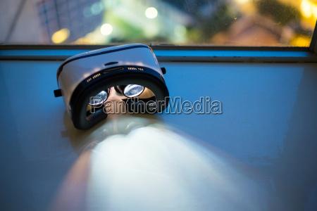 virtual reality playing movie