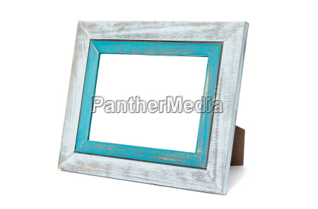 double rustic photo frame on white