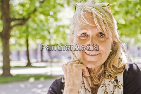 close up of older womans smiling