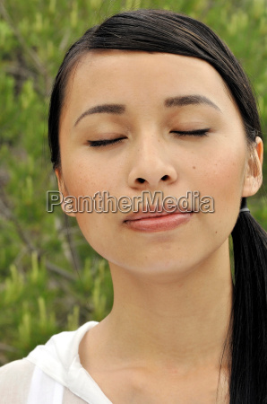 portrait of a franco vietnamese woman