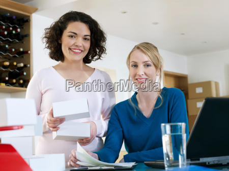 women running business from home