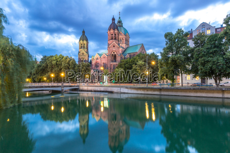 st lukas pink church munich