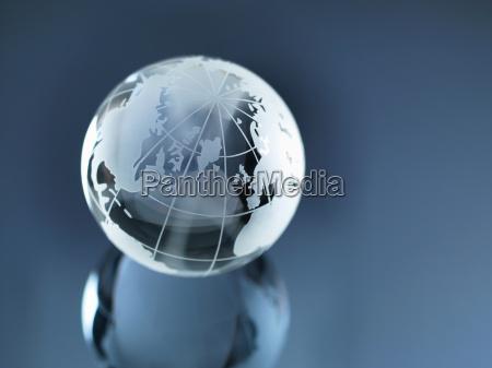 glas globe der illustrerer nord og