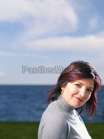 portrait of woman outdoors
