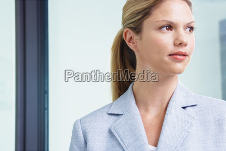 young business woman in office close