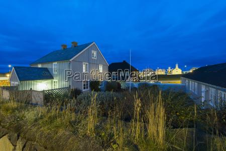 plejehjem ved solnedgangstykkisholmursnaefellsnesisland
