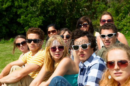 group of people wearing sunglasses