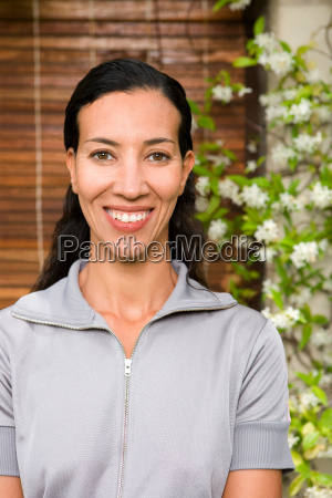 woman s portrait smiling