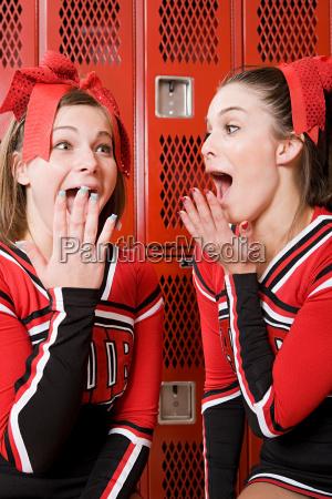excited cheerleaders