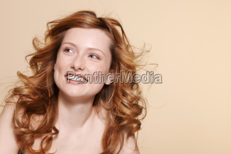 studio shot of young woman with