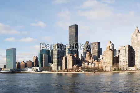 new yorks skyline og vand