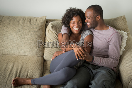 portrait of mid adult couple sitting