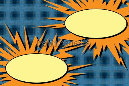 tegneserie dialog bobler eksplosion popkunst