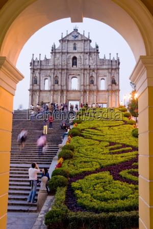 facade af st pauls cathedral macau