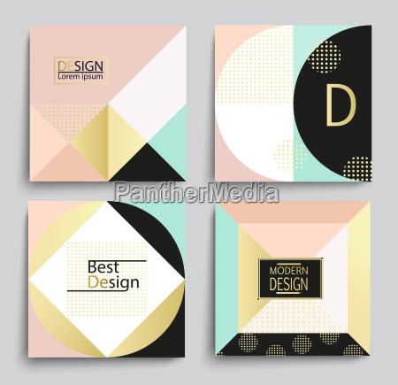 saet med elegant geometrisk banner skabelon
