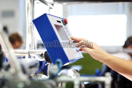 produktionsanlaeg maskinens drift