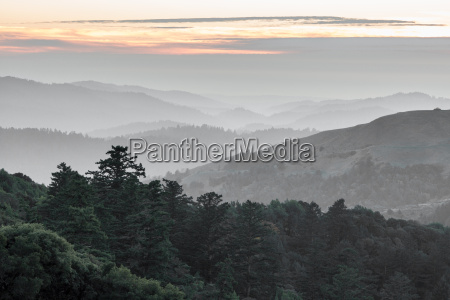 russisk ridge santa cruz mountains rullende