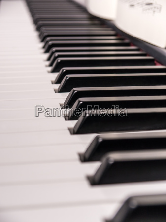 piano keys and music sheet
