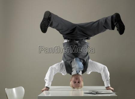 kontor strategi skrivebord portraet balance forretning