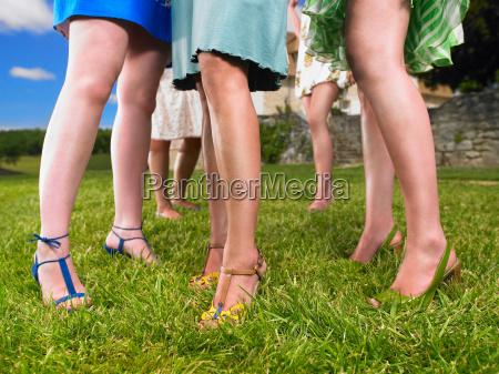 gruppe af fashionable kvinder