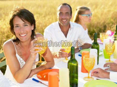 people, having, dinner, , woman, portrait - 19474708