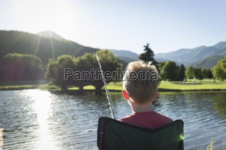 dreng fiskeri set bagfra washington state
