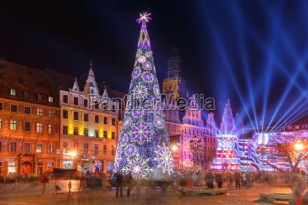 light laser show on market square