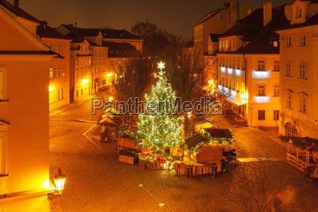 cristmas gamle radhusplads i prag tjekkiet