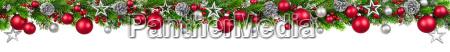 julen graensen rod og solv dekoreret