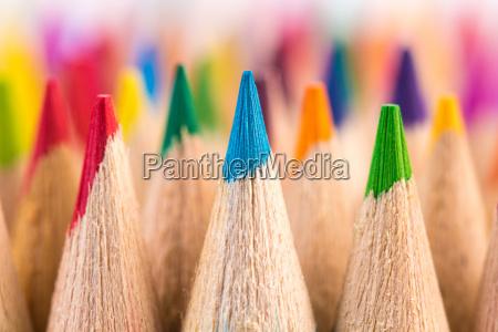 makro skud af farveblyant penne