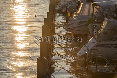 germany lindau lake constance moored boats