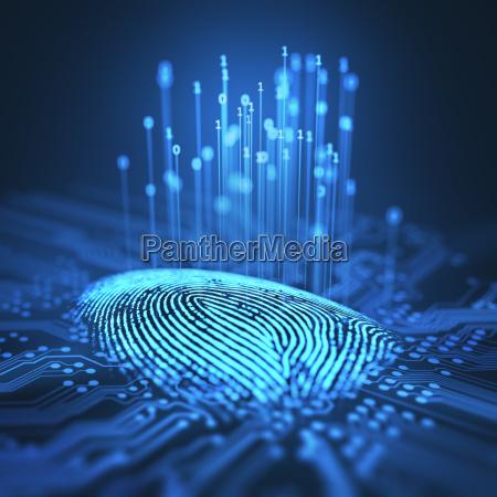 fingeraftryk binary microchip