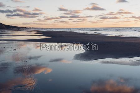 denmark north jutland tranquil beach at