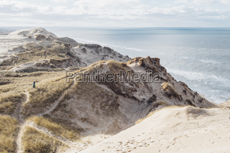 denmark north jutland steepcoast at lighthouse