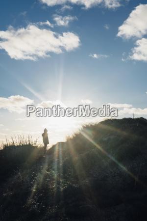 denmark north jutland boy in dunes