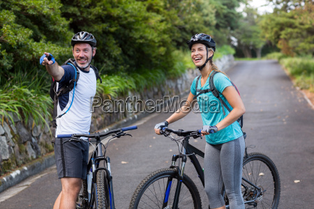 athletic par med mountain bike peger