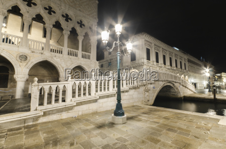 italy venice bridge over canal at