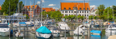 germany lindau view of port with