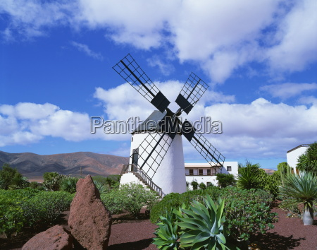traditional windmill near antigua fuerteventura canary
