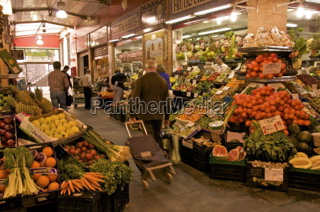 fruit and vegetable stalls triana market