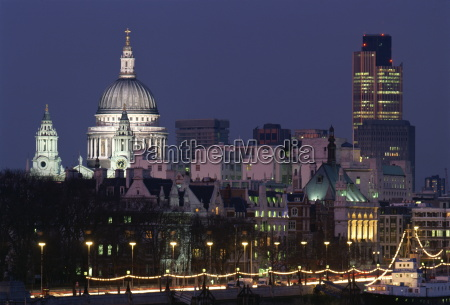 city skyline including stpauls cathedral and
