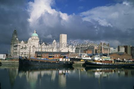 docks and liver building liverpool unesco