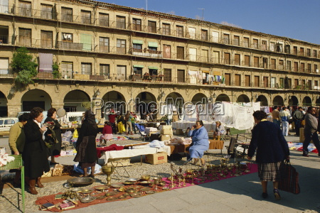 market in the town square in