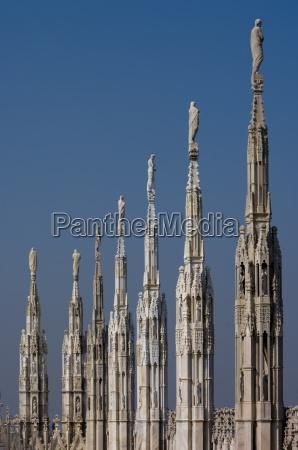 roof of milan cathedral duomo milan