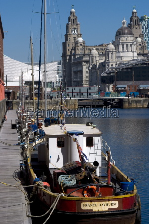 albert dock with view of the