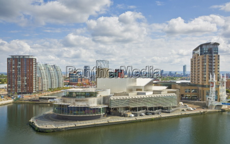 view across the lowry centre apartments